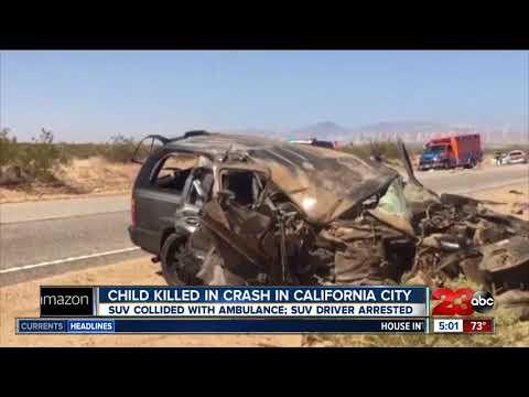 Child killed in crash in California City