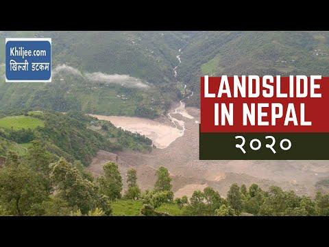 Landslide in Nepal Sunkoshi