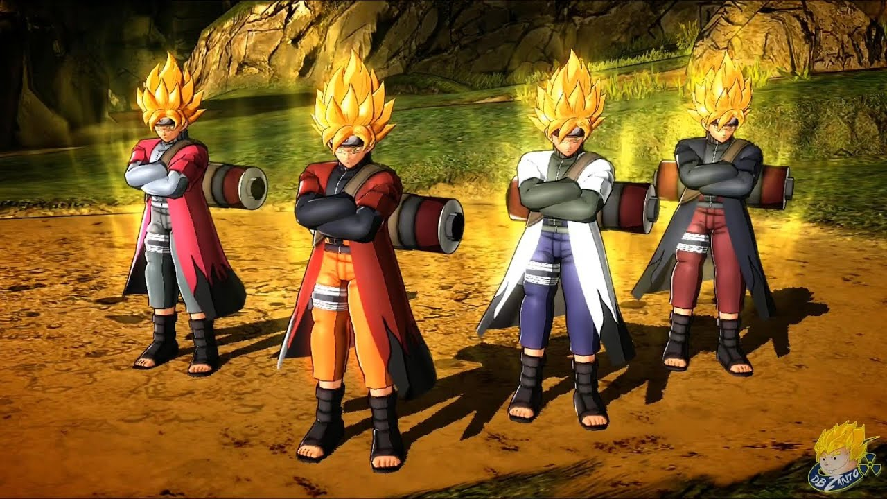 dragon ball z battle of z goku naruto sage mode costume dlc gameplay full hd youtube
