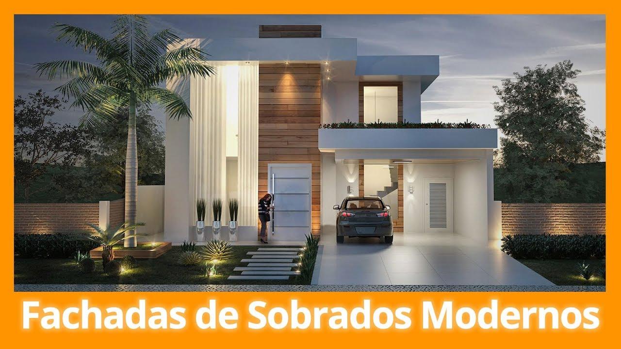 Fachadas de sobrados modernos youtube for Fachadas de garajes modernos