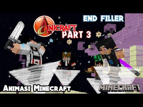 KEKUATAN LEVITATION !!! (Pertarungan Di THE END) | Animasi 4brother Filler AniCraft Part 3 Minecraft