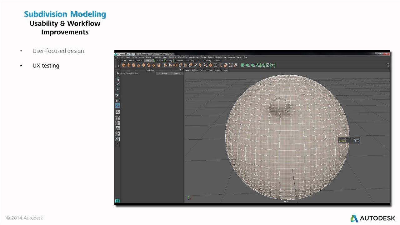 Maya 2016 Modeling and UV Editing Improvements (everything