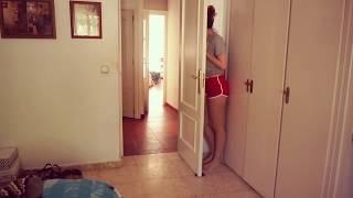 Cute girl play hidendseek with dog . Must watch!!