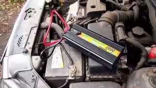 Тест и испытание автомобильного инвертора UKC на 2квт.