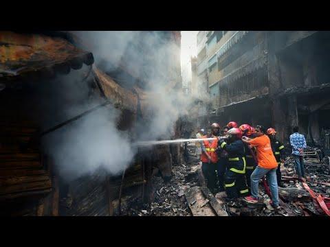 بنغلادش: 70 قتيلا على الأقل في حريق شب في مبان سكنية  - نشر قبل 2 ساعة