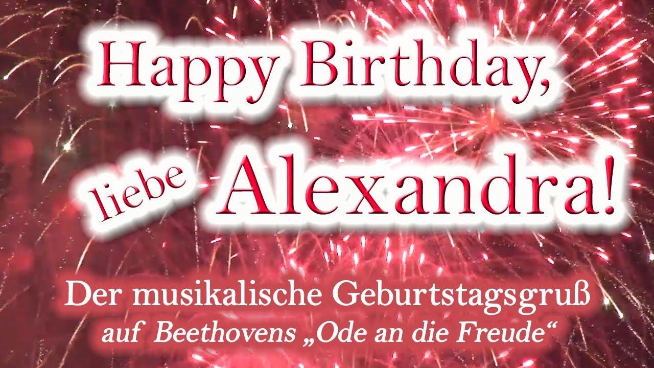 Happy Birthday, Liebe Alexandra! Alles Gute Zum Geburtstag!