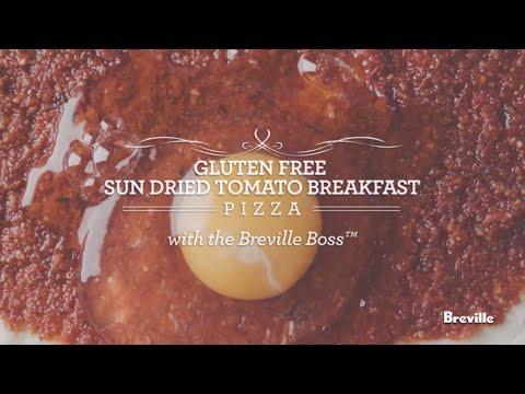 Gluten Free Sun Dried Tomato Breakfast Pizza Recipe powered by the best Breville Boss Blender