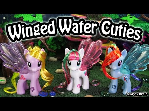 My Little Pony Cutie Mark Magic Water Cuties Rainbow Dash Blossomforth Lily Blossom MLP Toy Review
