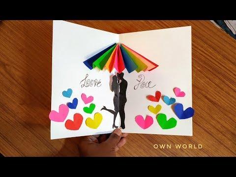 Valentine's Day card | DIY pop-up Card for Valentine's day
