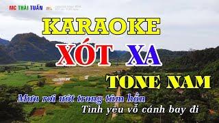 Xót xa - Karaoke nhạc sống TONE NAM   Karaoke Chất lượng cao - 4K Ultra HD
