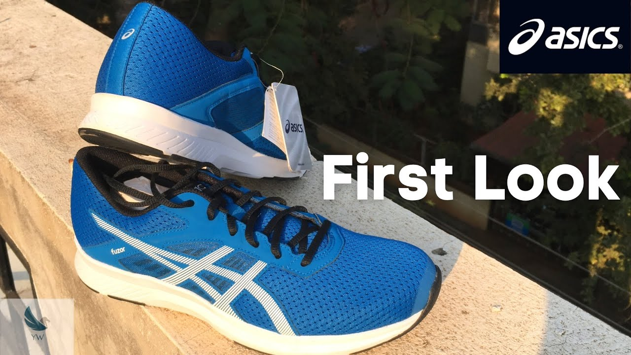 Asics Fuzor Blue Running Shoes Unboxing and First Look | Jabong EORS