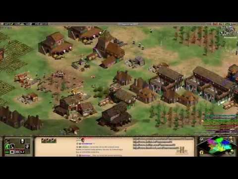 Aoe2 HD: 4v4 Arena (Britons, Mass Longbowmen)