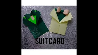 How to make SUIT CARD// TUXEDO // Easy paper craft// greeting cards idea