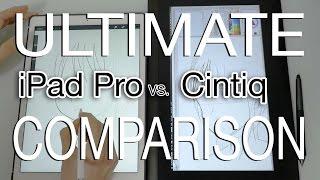 iPad Pro vs Cintiq - COMPARISON + Drawing Test