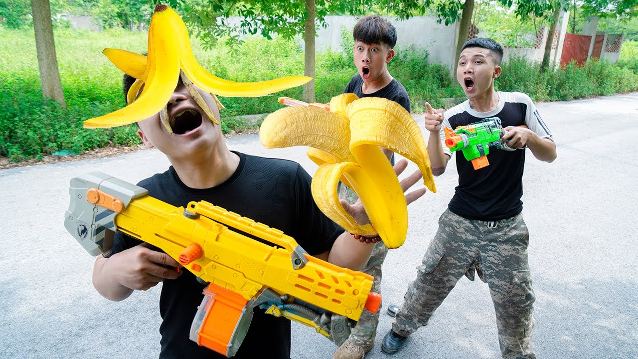 Battle Nerf War: Contention Nerf Guns BANANA BATTLE