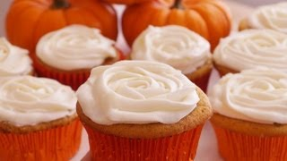 Pumpkin Cupcakes W/ Cream Cheese Frosting-how To Recipe-dishin' With Di Recipe Video #8-diane Kometa