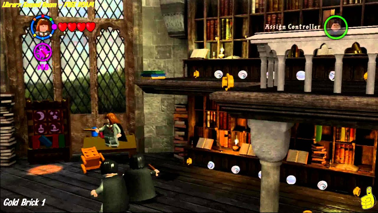 Lego Harry Potter Years 1 4 Library And Library Second Room Free