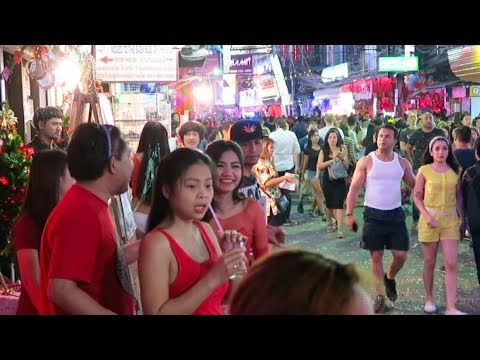 Pattaya, Walking Street on New Years Eve 2018