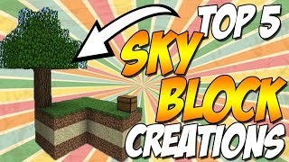 Top 5 Amazing Minecraft Skyblock TimeLapse Creations