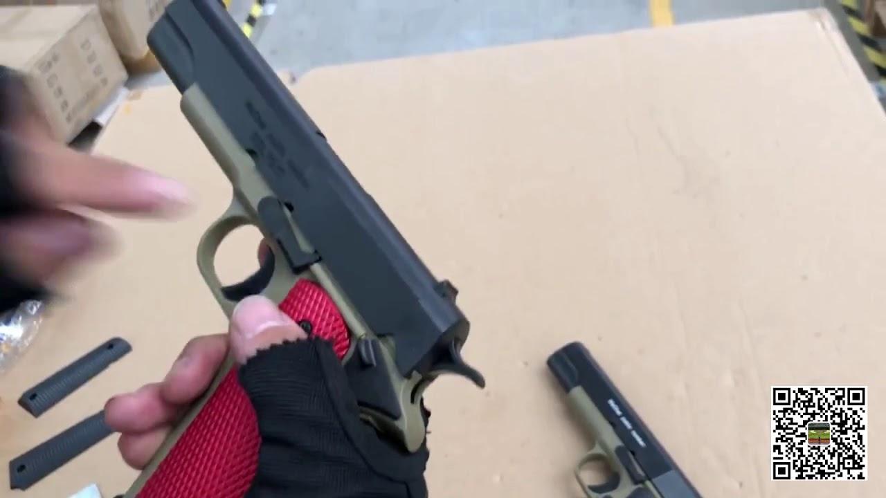 STD M1911 CS 008 gel blaster - YouTube