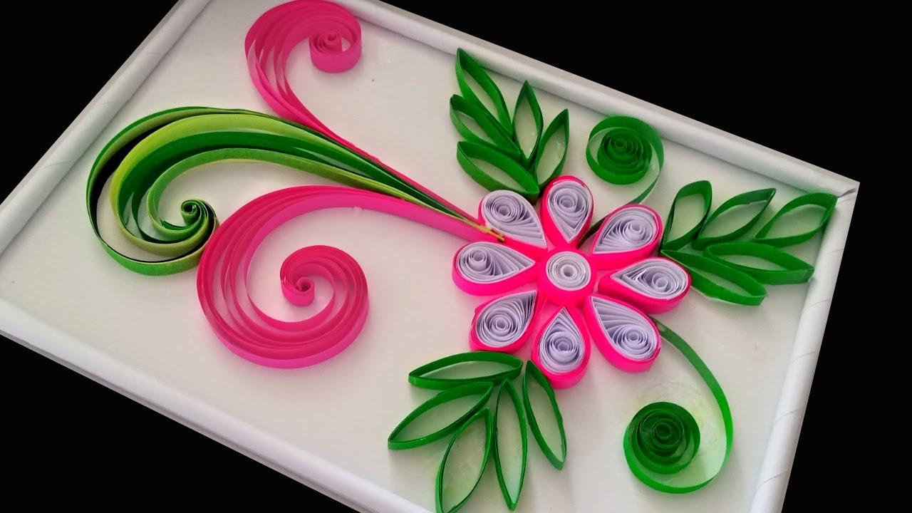 beautiful handmade quilling design / paper flower design / quilling design