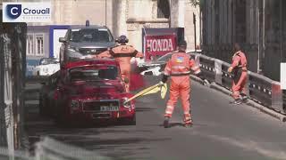 Circuit des Remparts: accident de Denis Derex pendant les essais