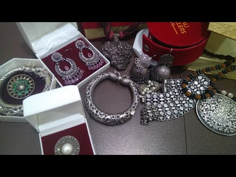MY ANTIQUE SILVER(my favourite jewelry haul) JEWELLERY COLLECTION