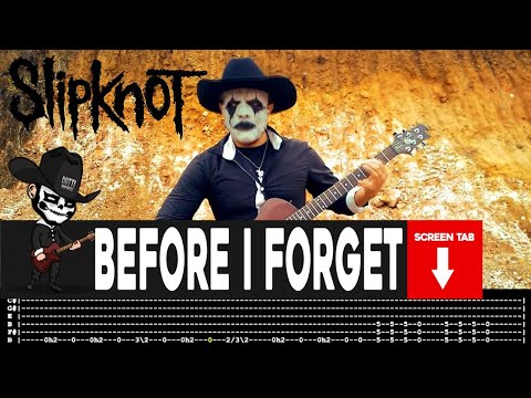 Slipknot - Before I Forget (Guitar Cover by Masuka W/Tab)