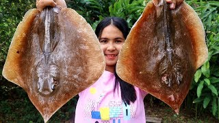 Awesome Cooking : Stingray Stir Fry With Round Eggplant Recipe - Cook & Eating Food Show