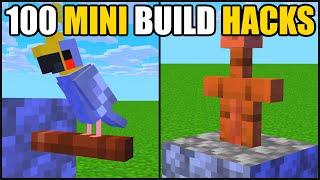 Minecraft | 100 Mini Build Hacks!