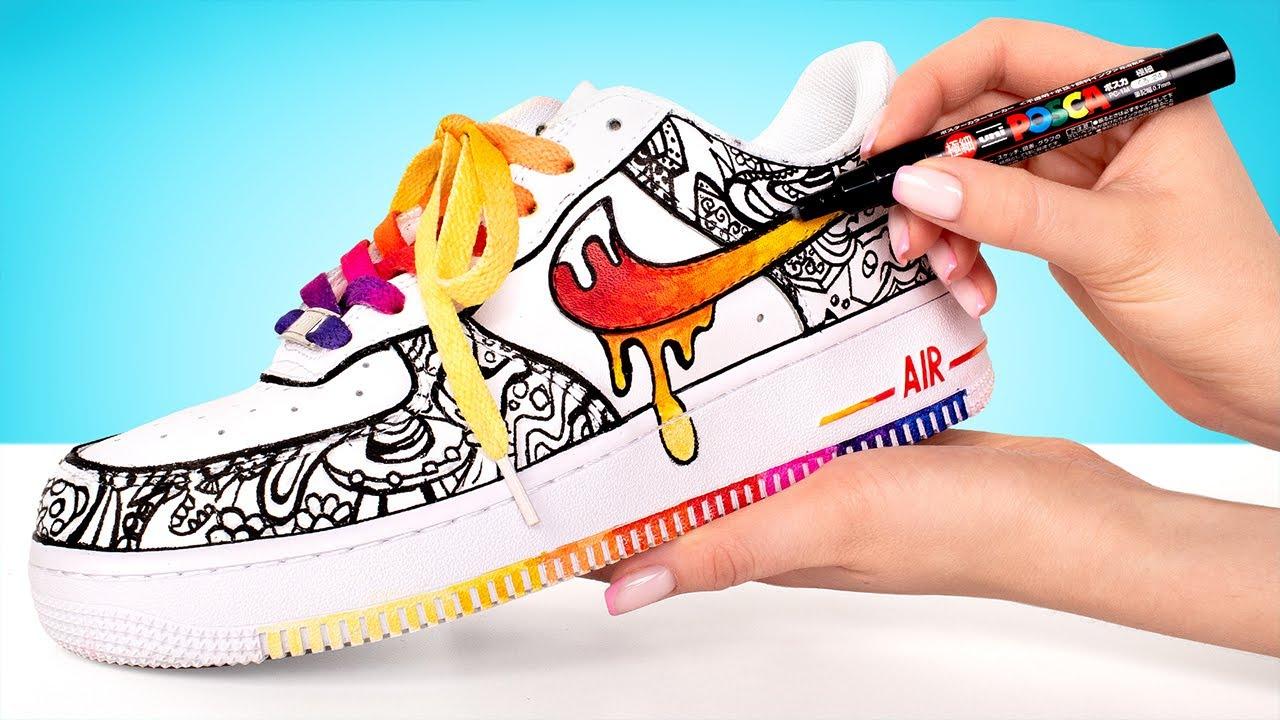Customizando um Nike Air Force 1 com desenho animado 👟