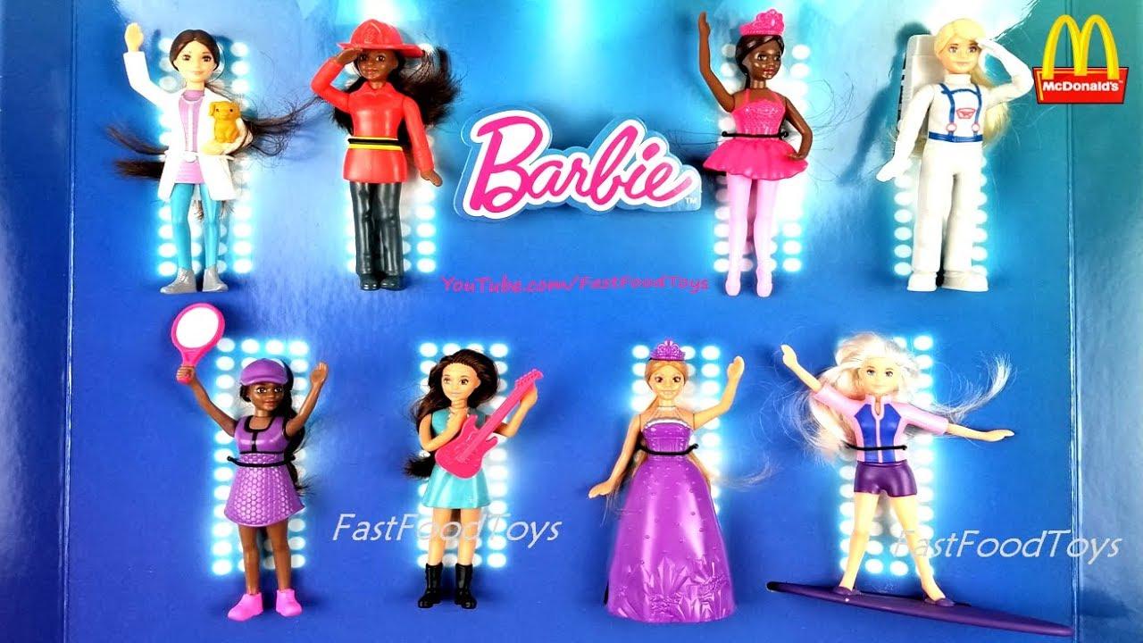 2019 Mcdonald S Barbie Happy Meal Toys Dolls Restaurant