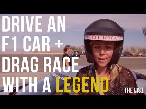 Drive an F1 Car + Drag Race With A LEGEND | The List