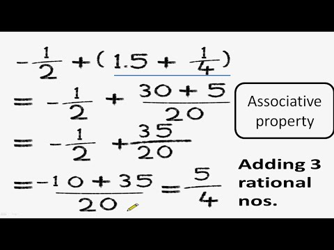 Maths - Associative property of rational numbers - English