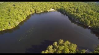 Aerial view 6 Mile Lake Provincial Park Ontario    June 4/5 we…