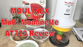 MOULINEX Multi Moulinette 6-in-1 AT723 Review - MOULINEX mini chopper unboxing by Saimi's Kitchen