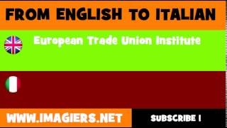 How to say European Trade Union Institute in Italian