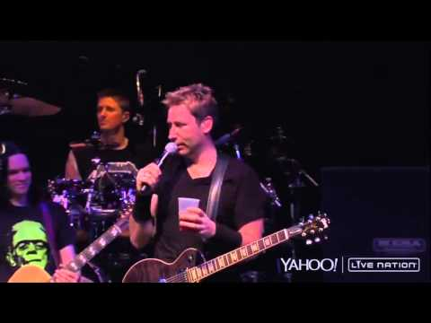 Nickelback talk about Nikelback Good jokes ( Live Nation 2014 )