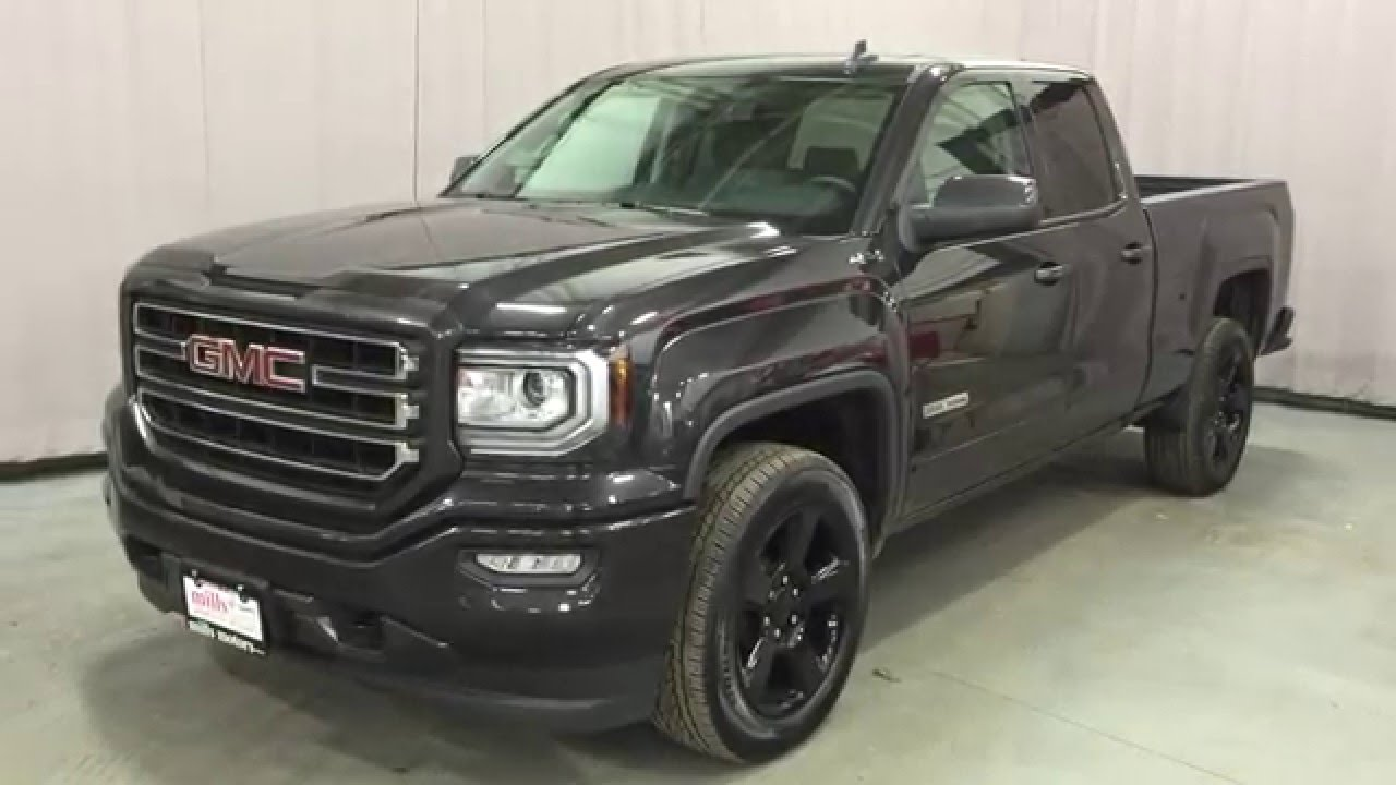 2016 gmc sierra 1500 sle double cab 4wd elevation edition oshawa on stock 160358 youtube. Black Bedroom Furniture Sets. Home Design Ideas