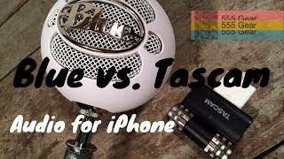 Comparison: Blue Snowball vs. Tascam iM2 Microphone