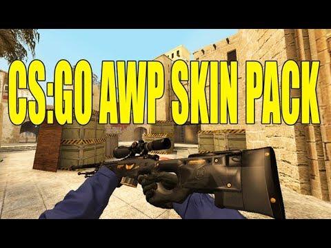 Csgo awp skin counter strike source all version youtube - Awp asiimov css ...