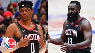 Russell Westbrook makes Rockets debut, James Harden scores 34 in preseason loss | NBA Highlights