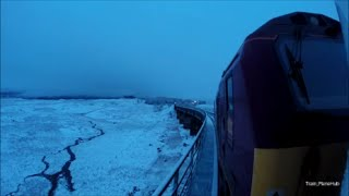 Snowy Journey On The Caledonian Sleeper with 67011