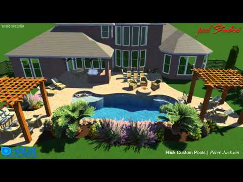Hauk Custom Pools; Gay Residence- Gentle Creek, Prosper, TX