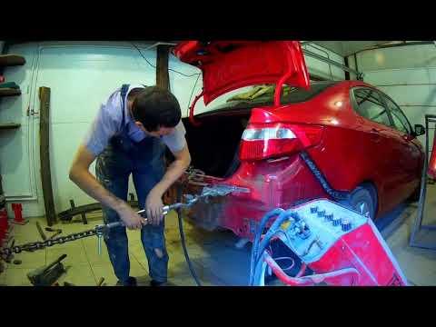 Киа Рио ремонт крышки багажника