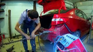 Кіа Ріо ремонт кришки багажника