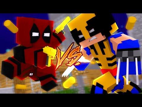 Minecraft: HERÓIS PVP - DEADPOOL vs WOLVERINE!