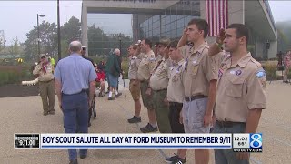 Boy Scouts salute all day at Ford Museum to remember 9/11