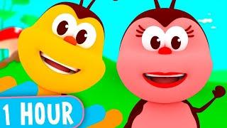 1 HOUR! Funny Songs of Little Bugs! - Kids Songs & Nursery Rhymes