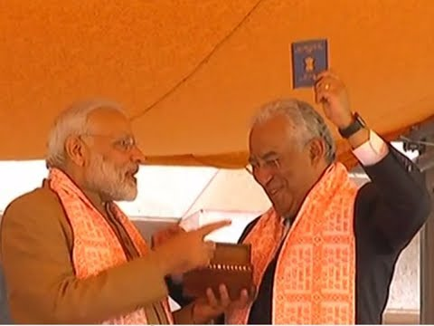 PM Modi presents 'Overseas Citizen of India' card to Portugu